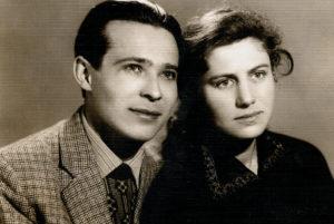 Friedrich Falevich with his wife Dora Falevich (Slutsk 1960)