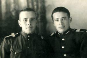 Friedrich Falevich with Anatoliy Yevdokimov (Termez 1955)