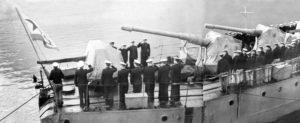Anatoly Lifshits on board the Torpedo boat (Kola Bay 1947)