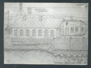 A bath-house in the Jewish Borough Yanovichi, where Blyuma Perlstein lived (Yanovichi 1926)