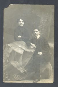 Lev Perlstein with his friend (St. Petersburg 1910)