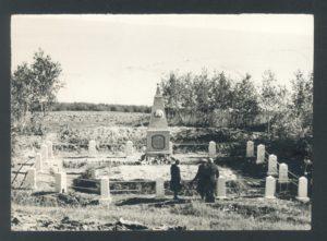 The monument erected at the place of execution of the Yanovichi population (Yanovichi 1959)