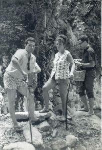 Galina Levina and her husband David Levin (near Tuapse 1968)