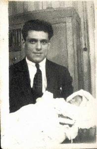 Galina Levina with her father, Moses Markman (Leningrad 1934)