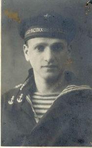 Mikhail Makhover in a sailor's military uniform (Leningrad 1933)