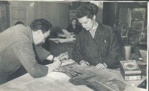 Galina Levina at work (Leningrad 1962)
