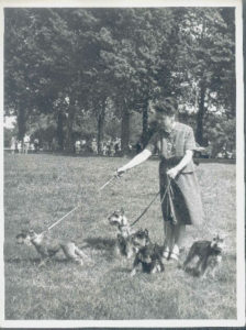 Galina Levina with her dogs (Leningrad 1984)