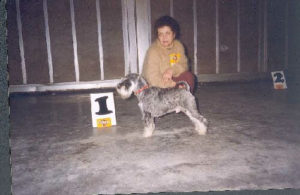 Galina Levina with her dog (Helsinki 1996)