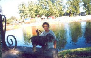 Galina Levina with her dog (St.Petersburg)