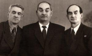 Zinovy Galper with his brothers Beniamin and Mikhail Galper (Volchansk 1940)