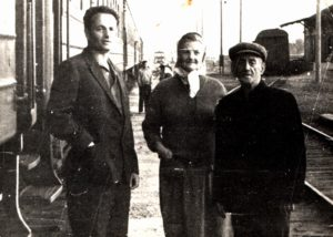 Lev Galper with his mother Eva Galper and father Zinovy Galper (Kharkov 1969)
