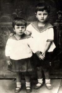 Lev Galper with his sister Berta Lyubchich