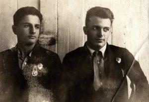 Lev Galper with his shooting coach Vladimir (Volchansk 1936)