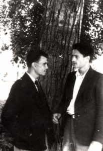Lev Galper with his co-student Evgeny Stepanov (Moscow 1946)
