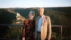Lev Galper with his niece Elena (Israel 1997)