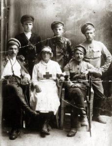 Revekka Ogranovich as a nurse during World War I (Tallinn 1914)