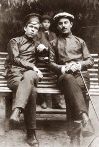 Vladimir Yanov with his pal (Moscow 1912)