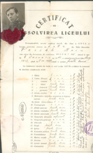 Certificate of French language studies (Beltsy 1928)