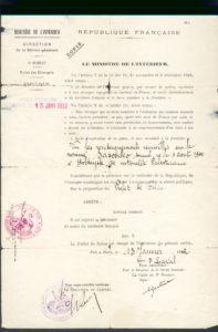 Expulsion certificate (Paris 1932)