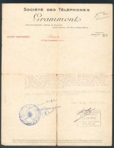 Work reference (Paris 1930)