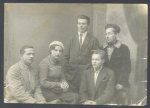 Samuil Sasonko with friends (Paris 1930s)