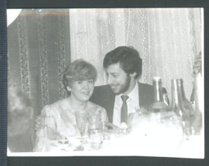 Leonid Kolton with his wife (Leningrad 1985)