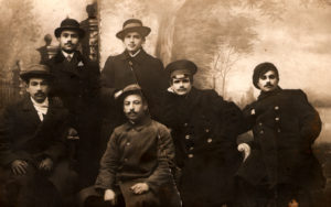 Moses Zelbert and the musicians of the 5th squad of the 3rd regiment of the Emperor Alexander (Odessa 1914)