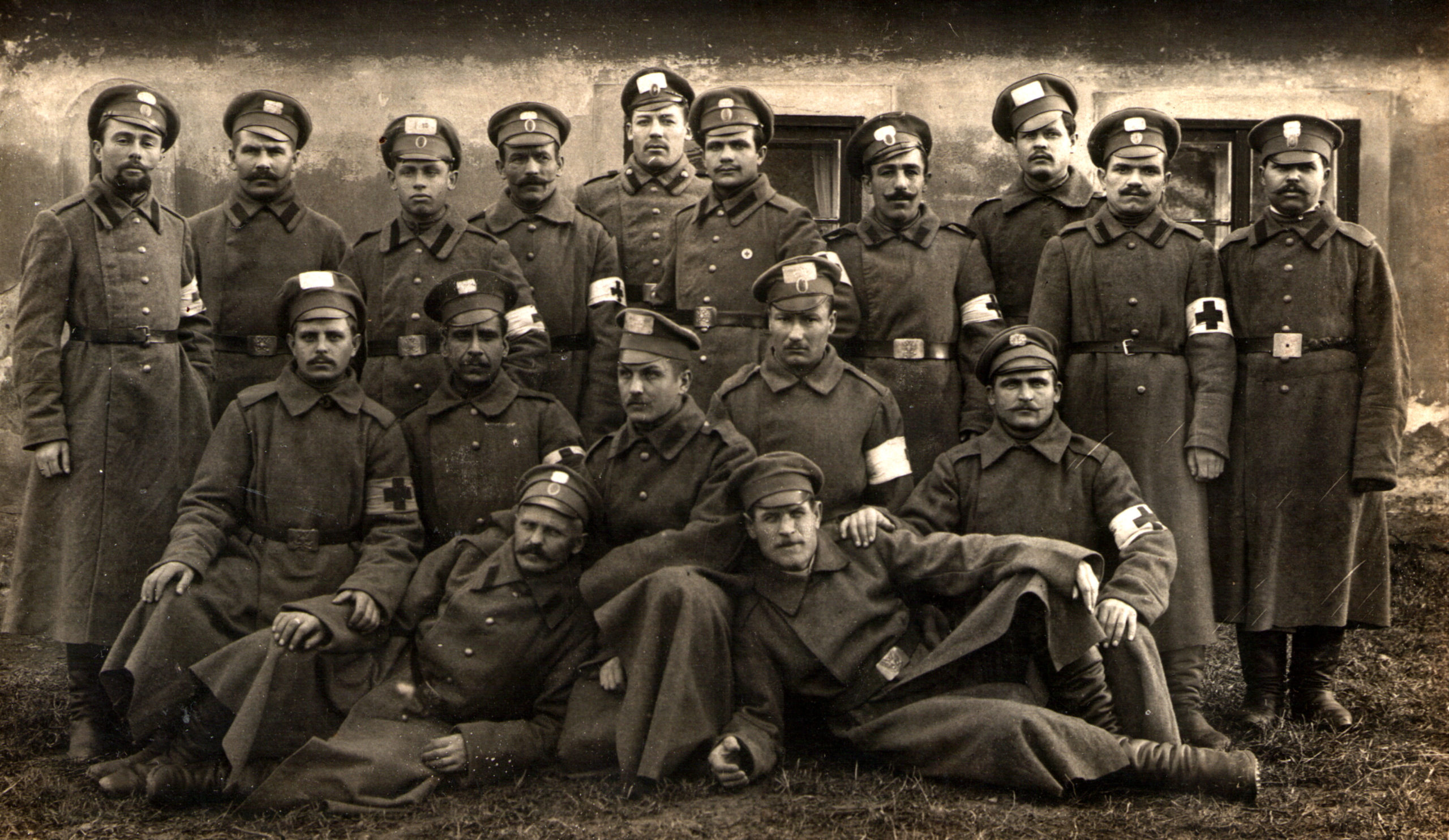Moses Zelbert and the soldiers of the Russian army