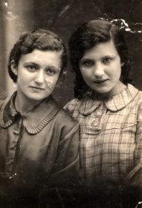 Berta Zelbert with her sister Eniya Zelbert (Berdyansk 1936)