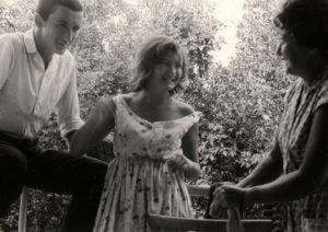 Berta Zelbert with her children: Evgeniy Gorelik and Olga Gorelik (Kaliningrad 1960)