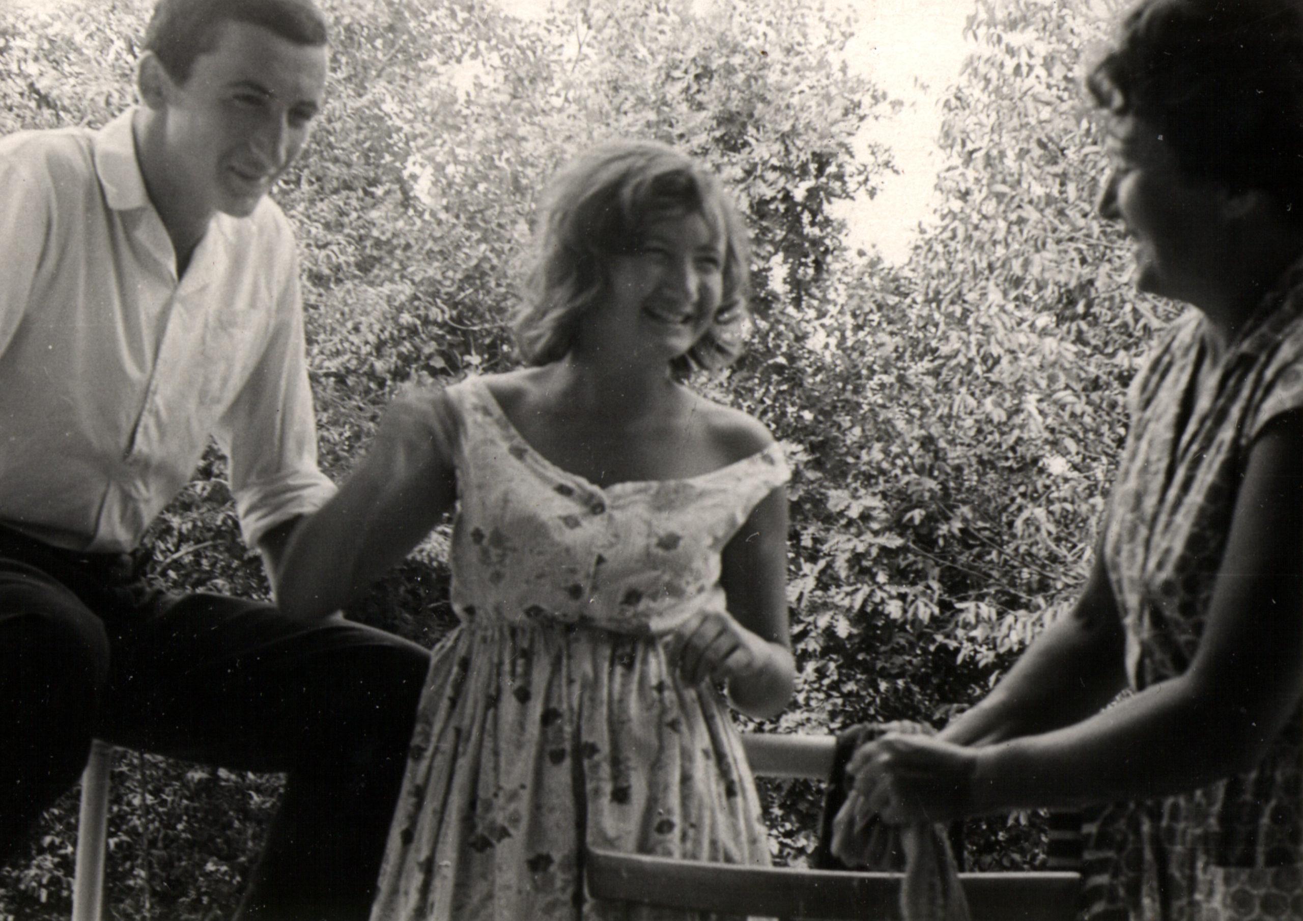 Berta Zelbert with her children: Evgeniy Gorelik and Olga Gorelik