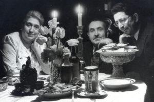 Mark Epstein's parents and their friend (Leningrad 1950s)