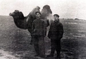Efim Pisarenko and his friend (Kazakhstan 1957)