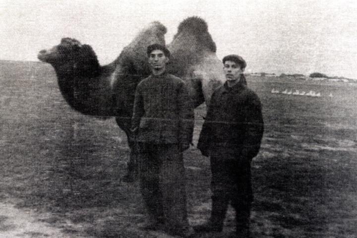 Efim Pisarenko and his friend